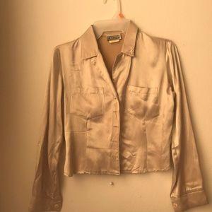 Tops - Silky Cream Vintage Blouse